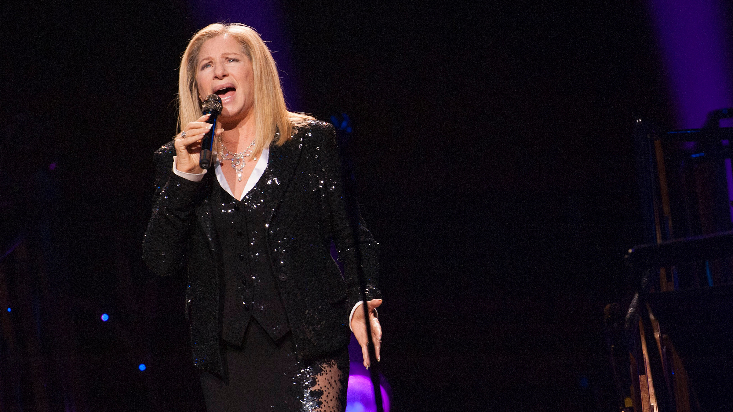 Barbra Streisand performs on stage at the Air Canada Centre on Tuesday, Oct. 23, 2012, in Toronto.