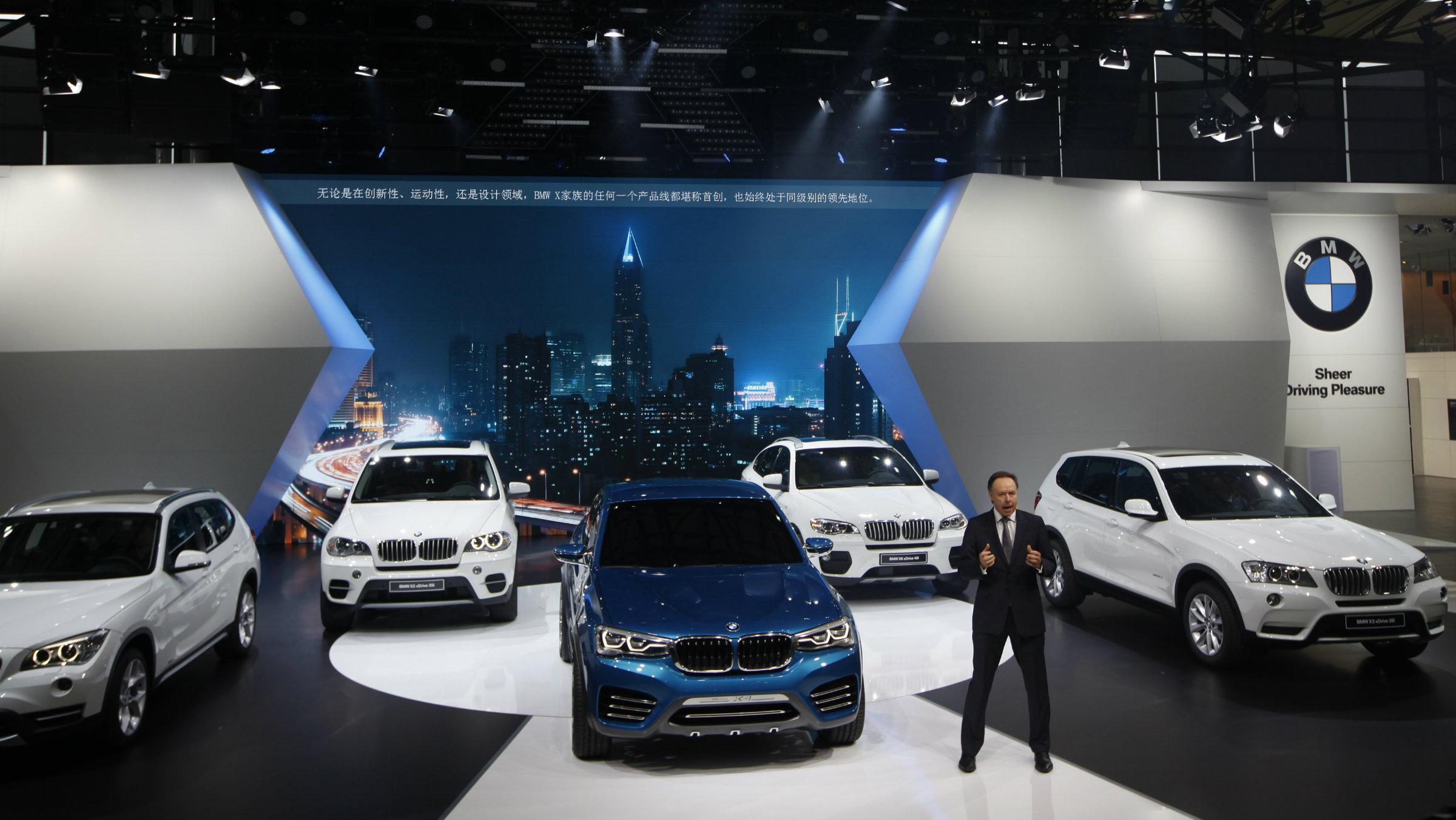 BMW exhibition in Shanghai in 2013.