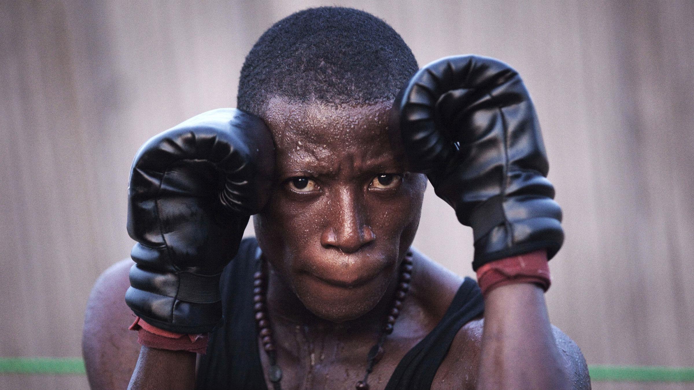 A professional boxer