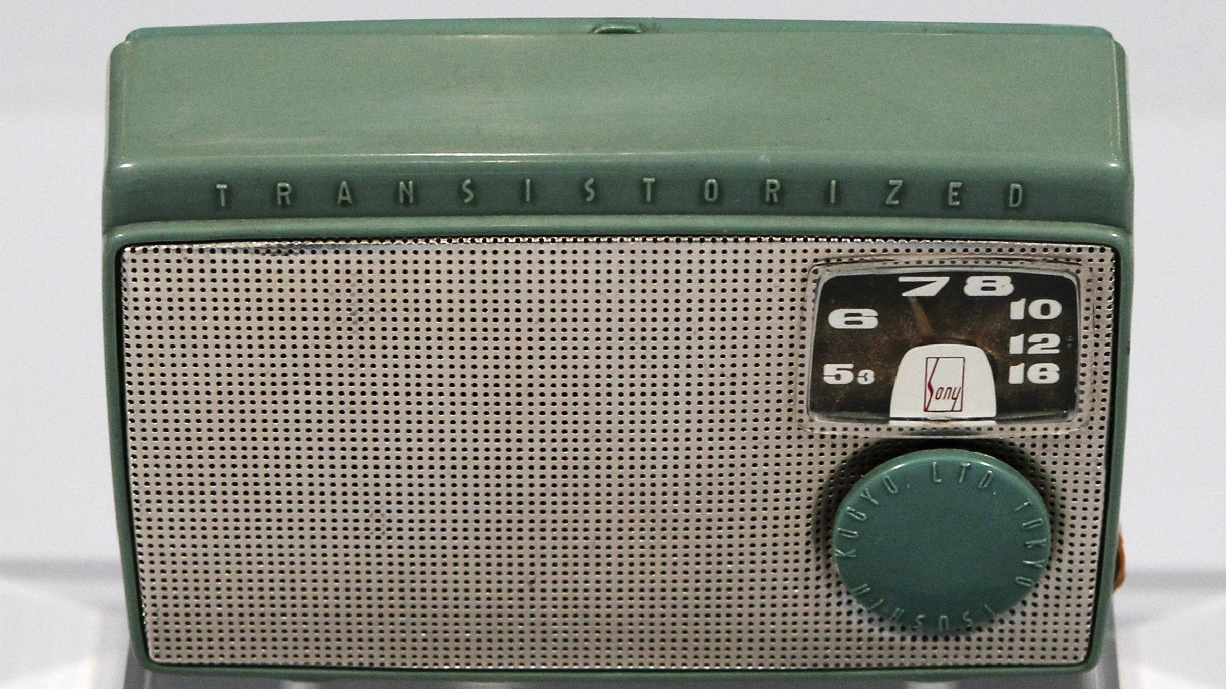Sony's first transistor radio TR-55, which was produced 1955