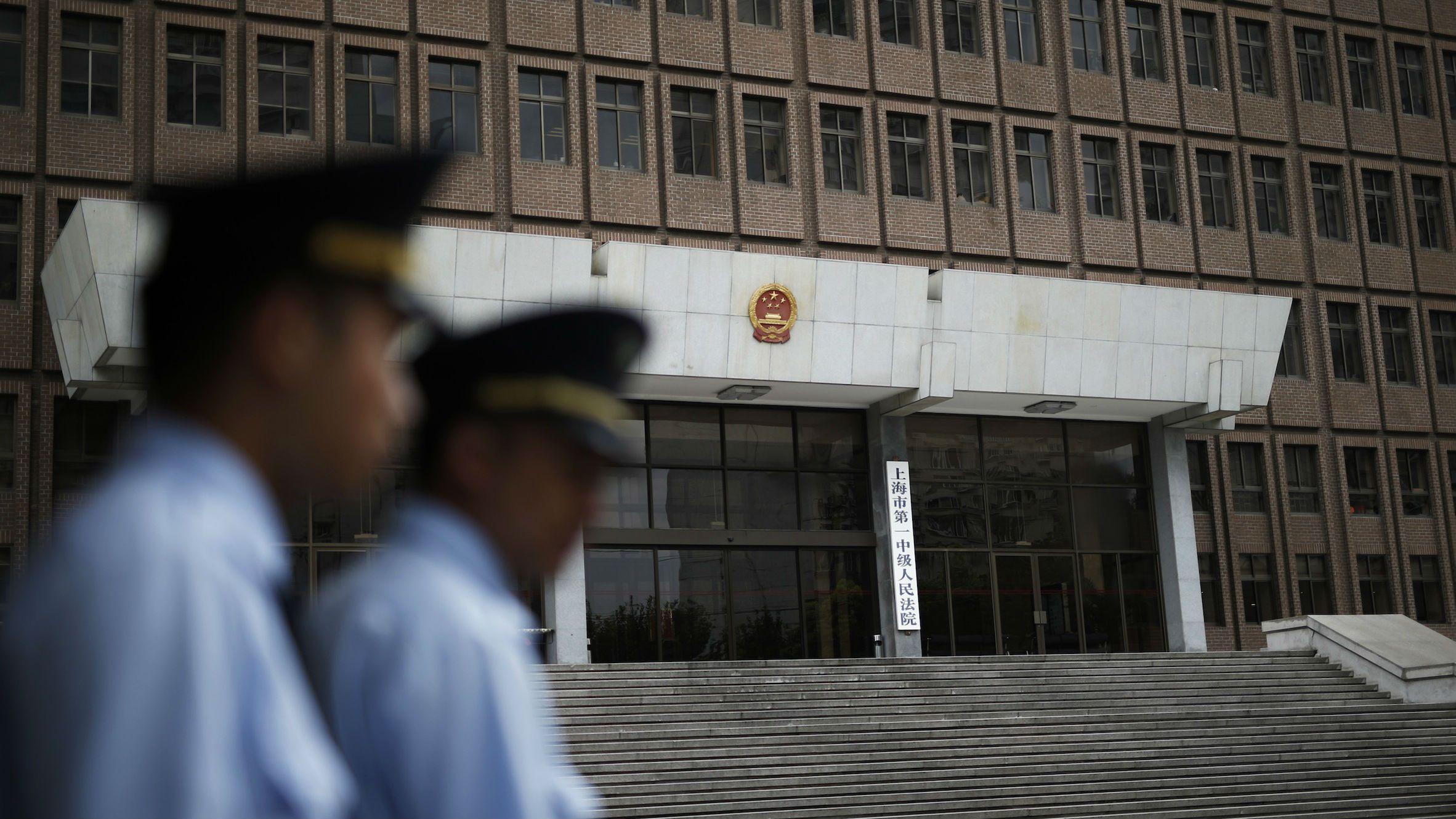 China courts web