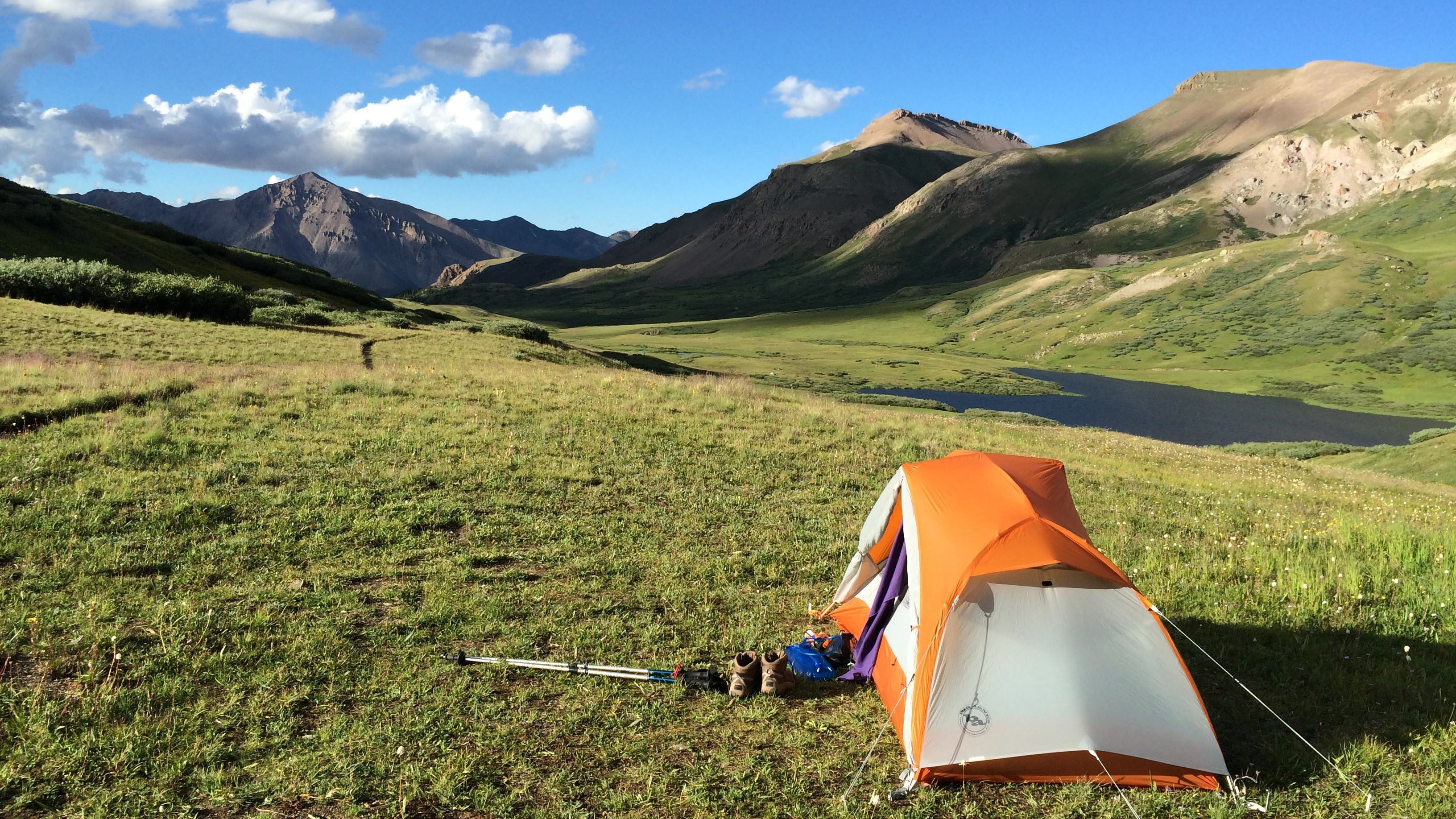 Camping in the colorado trail