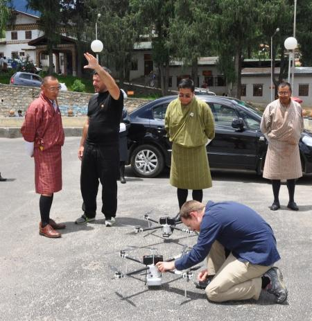 Bhutan prime minister with drones