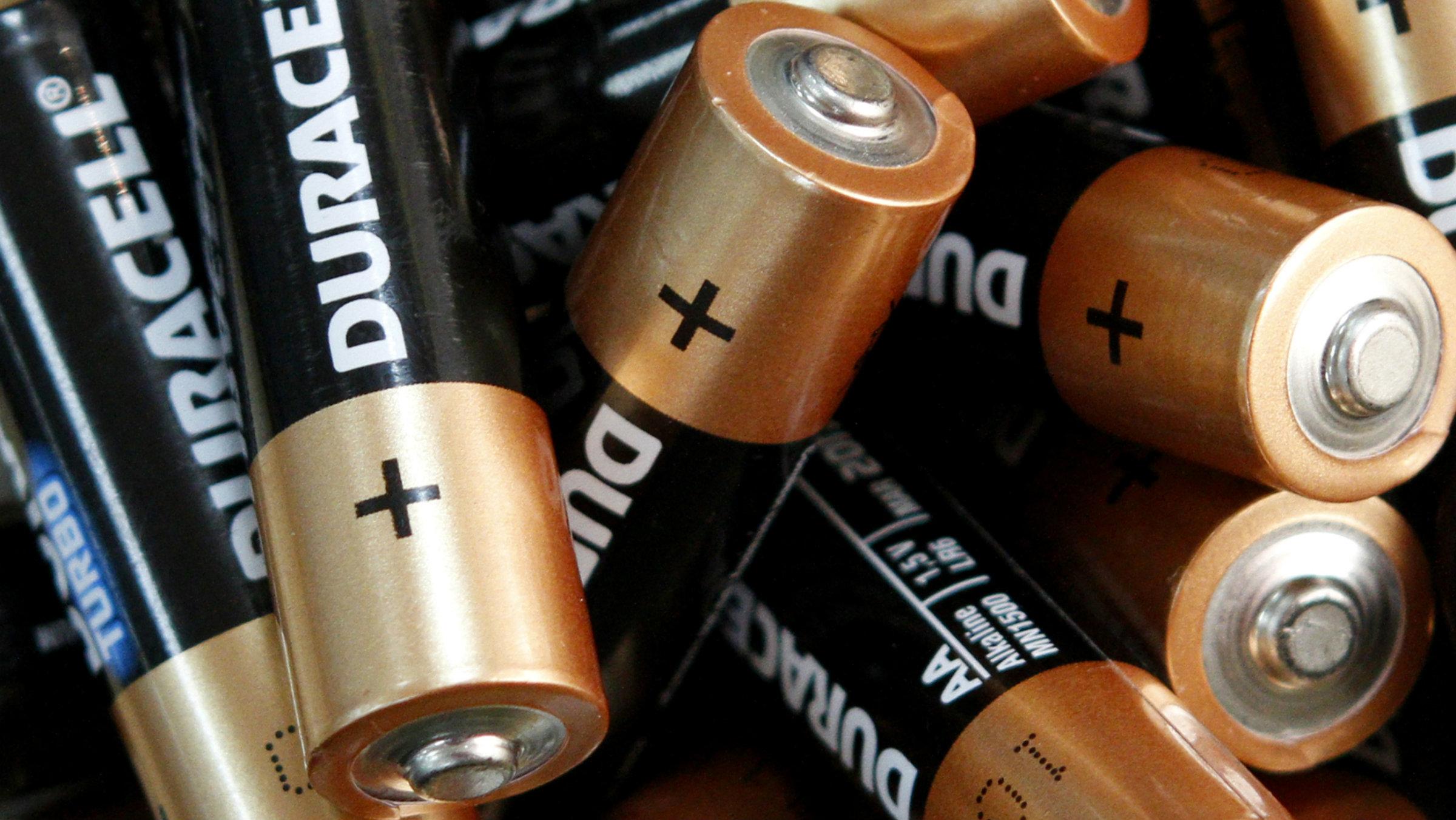 Standard AA batteries.