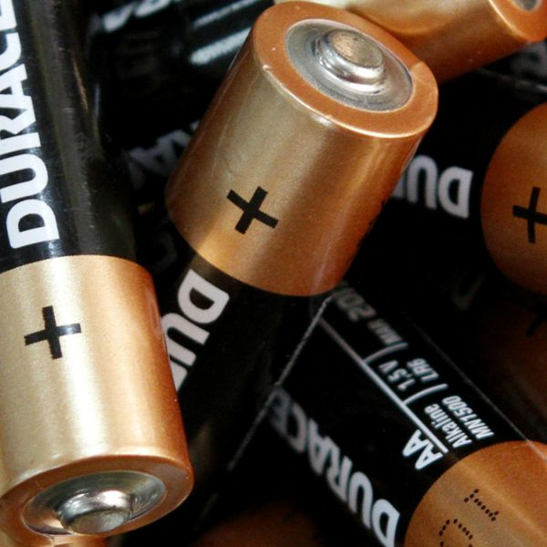 Standard AA batteries.