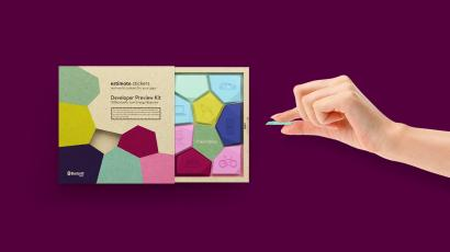 Estimote beacon stickers