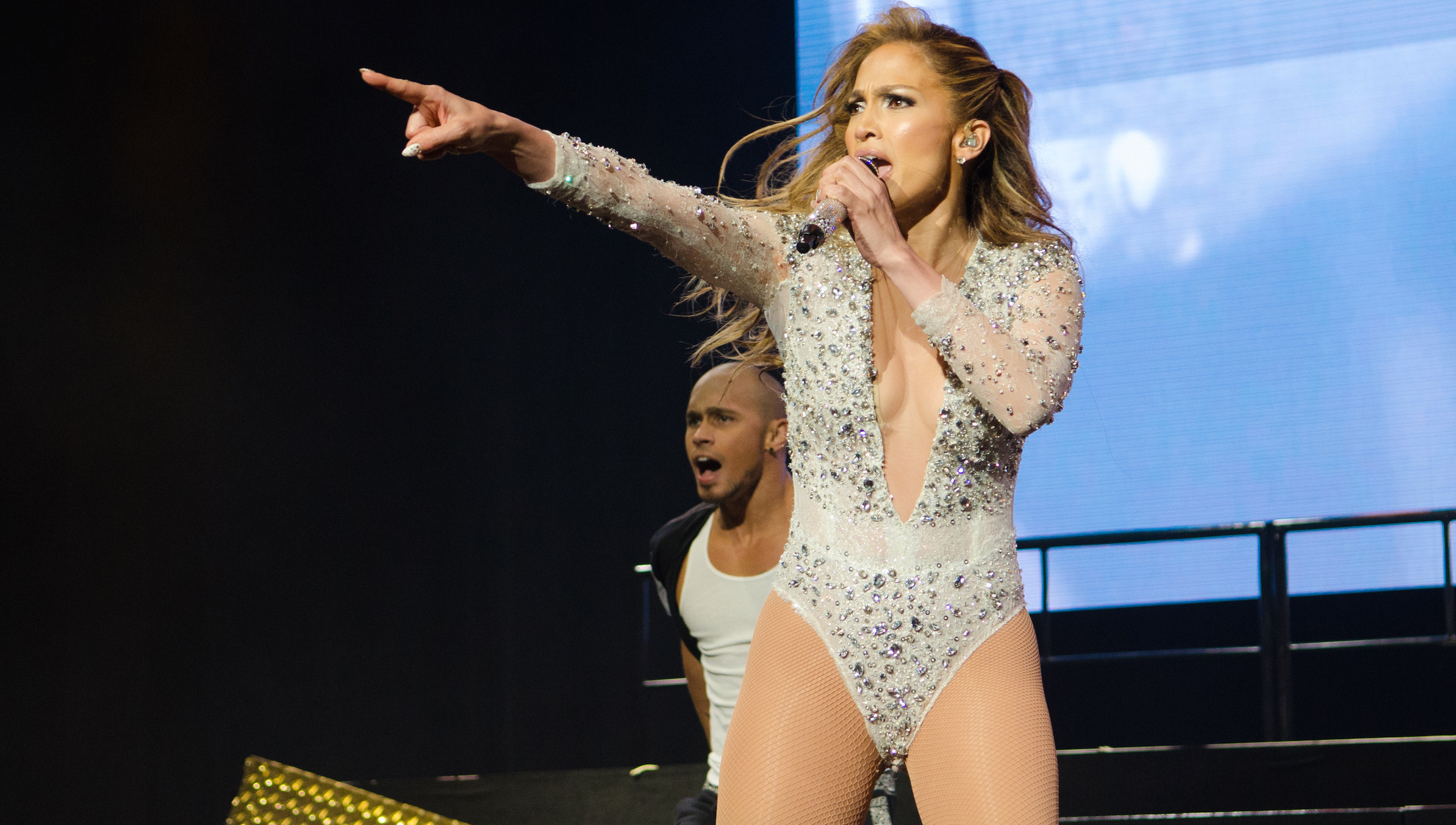 Jennifer Lopez performs at 103.5 KTU's KTUphoria at IZOD Center on Sunday, June 29, 2014, in East Rutherford, NJ. (Photo by Scott Roth/Invision/AP)