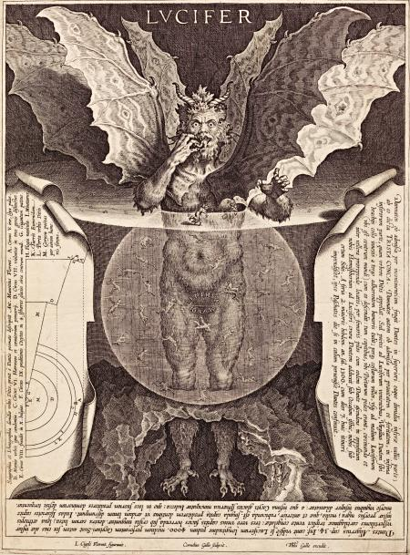 Lucifer, an engraving by Cornelis Galle I