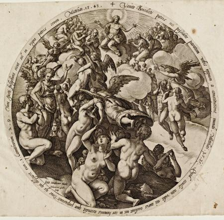 The Descent to Hell of the Damned, by Goltzius