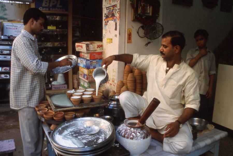 Lassi shop in Varanasi