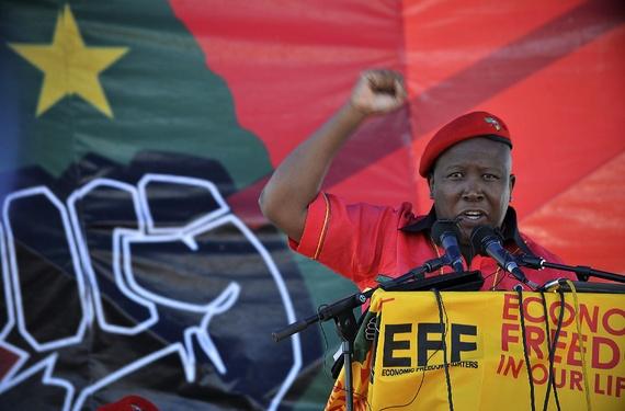 Julius Malema at rally