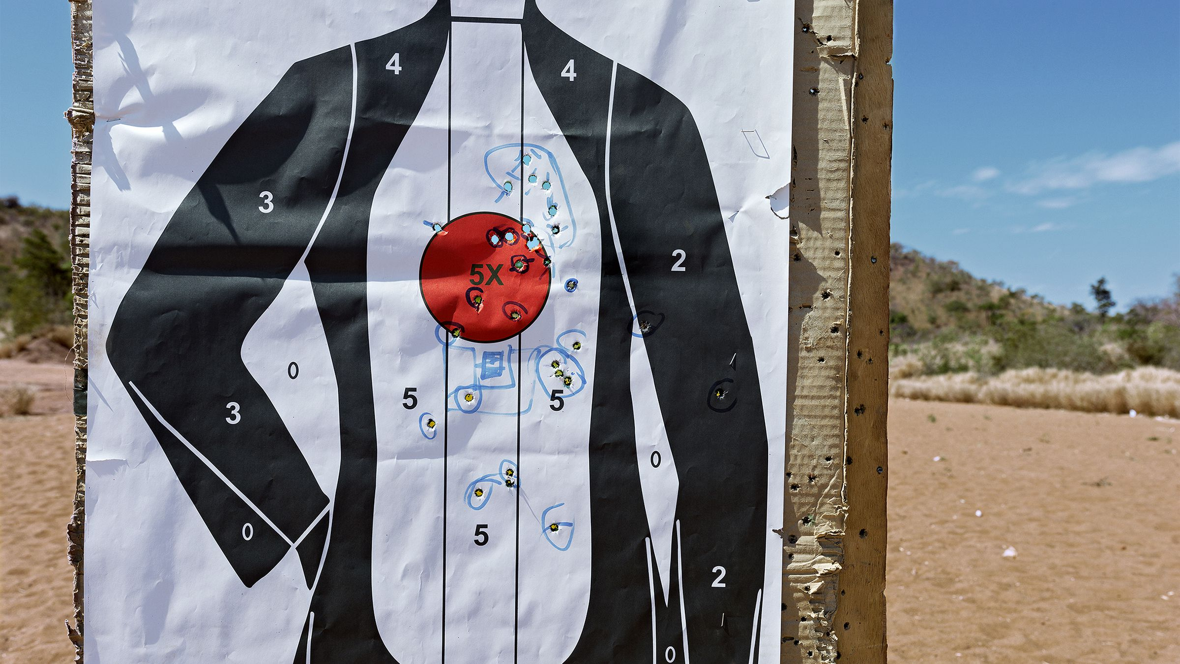 A target used by Mali's military for shooting practice