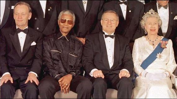 Mandela wearing Madiba shirt