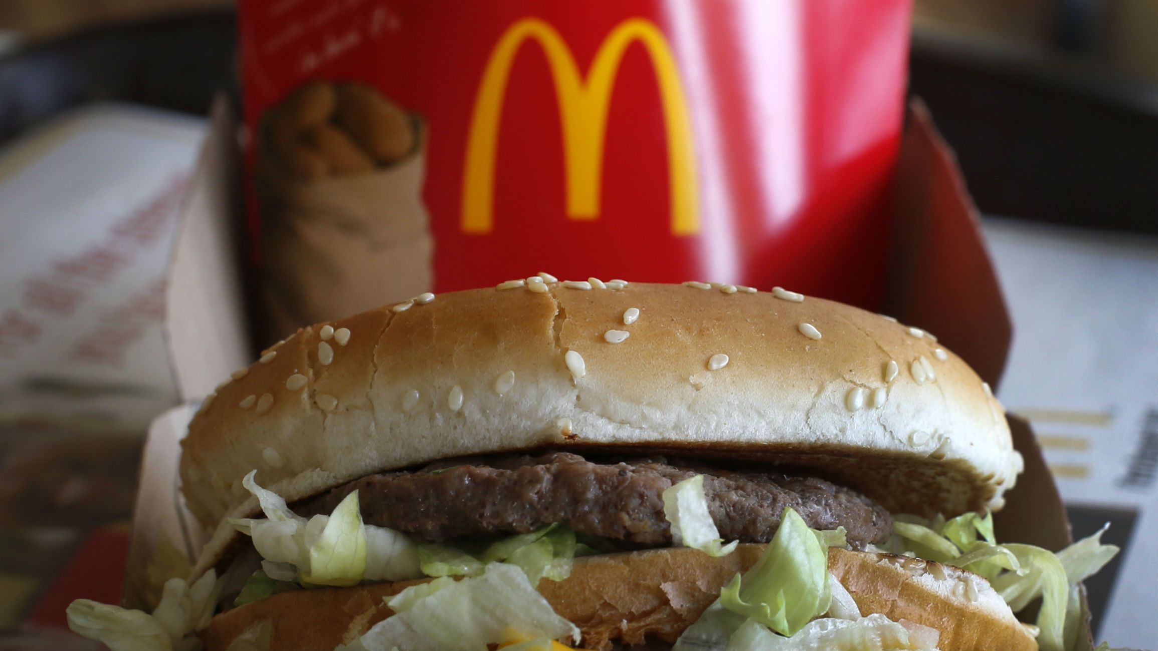 In this Tuesday, Jan. 21, 2014, photo, a McDonald's Big Mac sandwich is photographed at a McDonald's restaurant in Robinson Township, Pa.