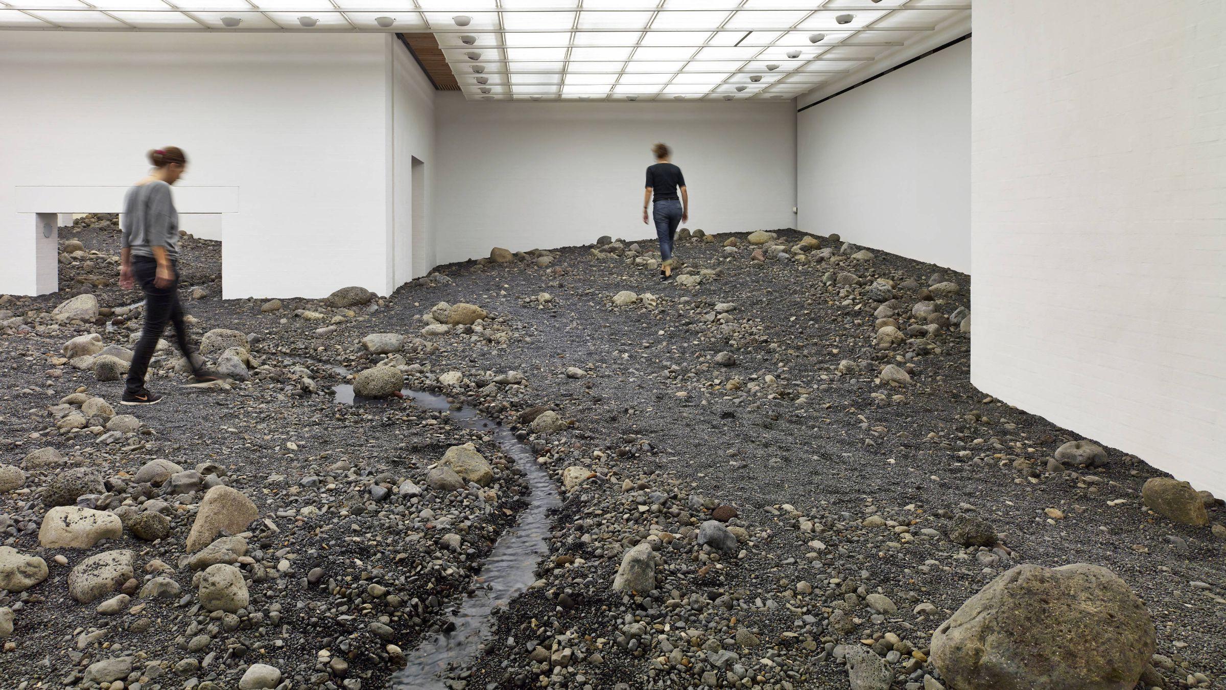 Olafur Eliasson's Riverbed installation at Denmark's Louisiana museum