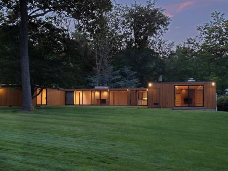 Philip Johnson's 1954 Wiley Speculative House is up for sale.