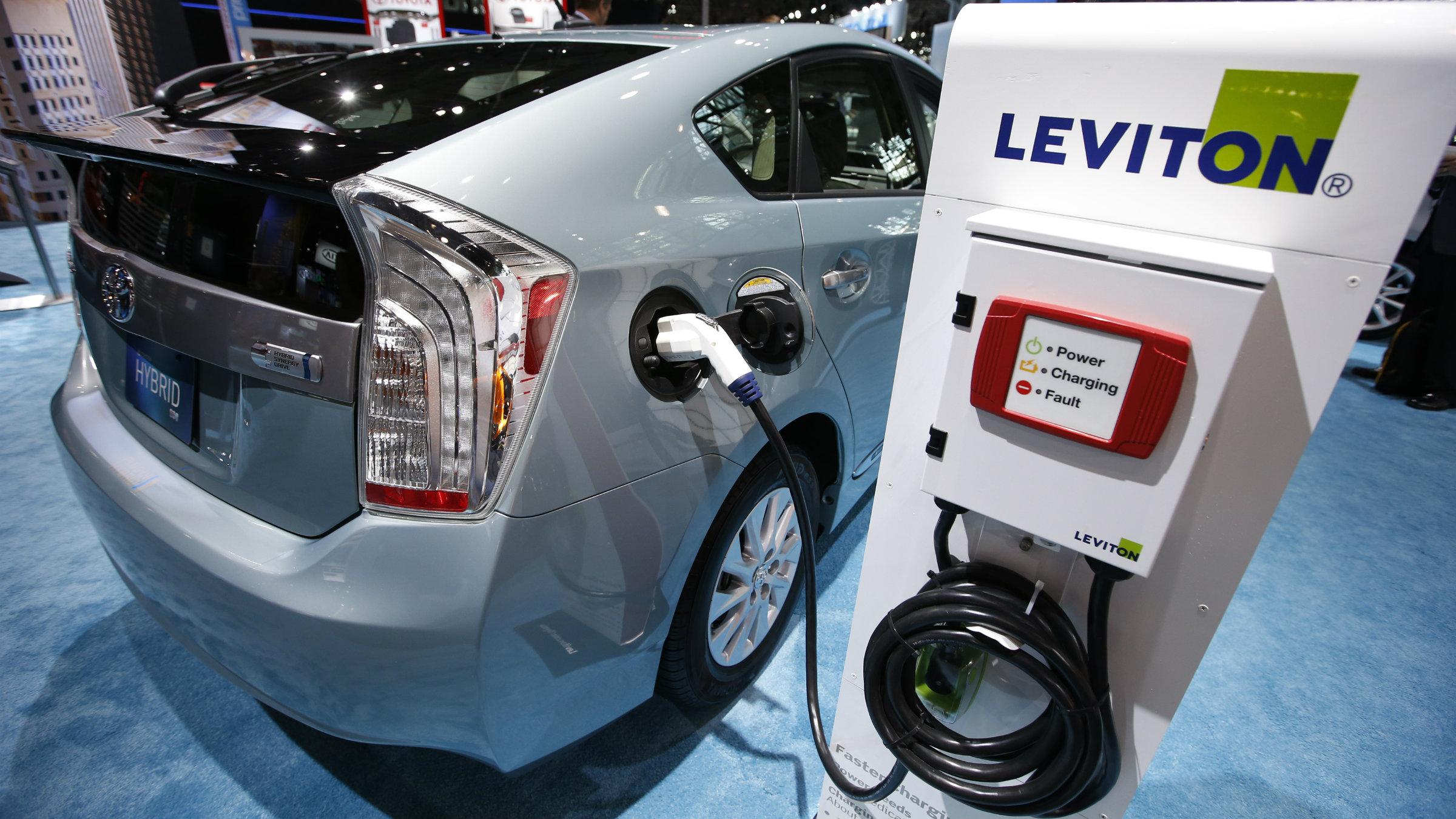The Toyota Prius plug-in hybrid.