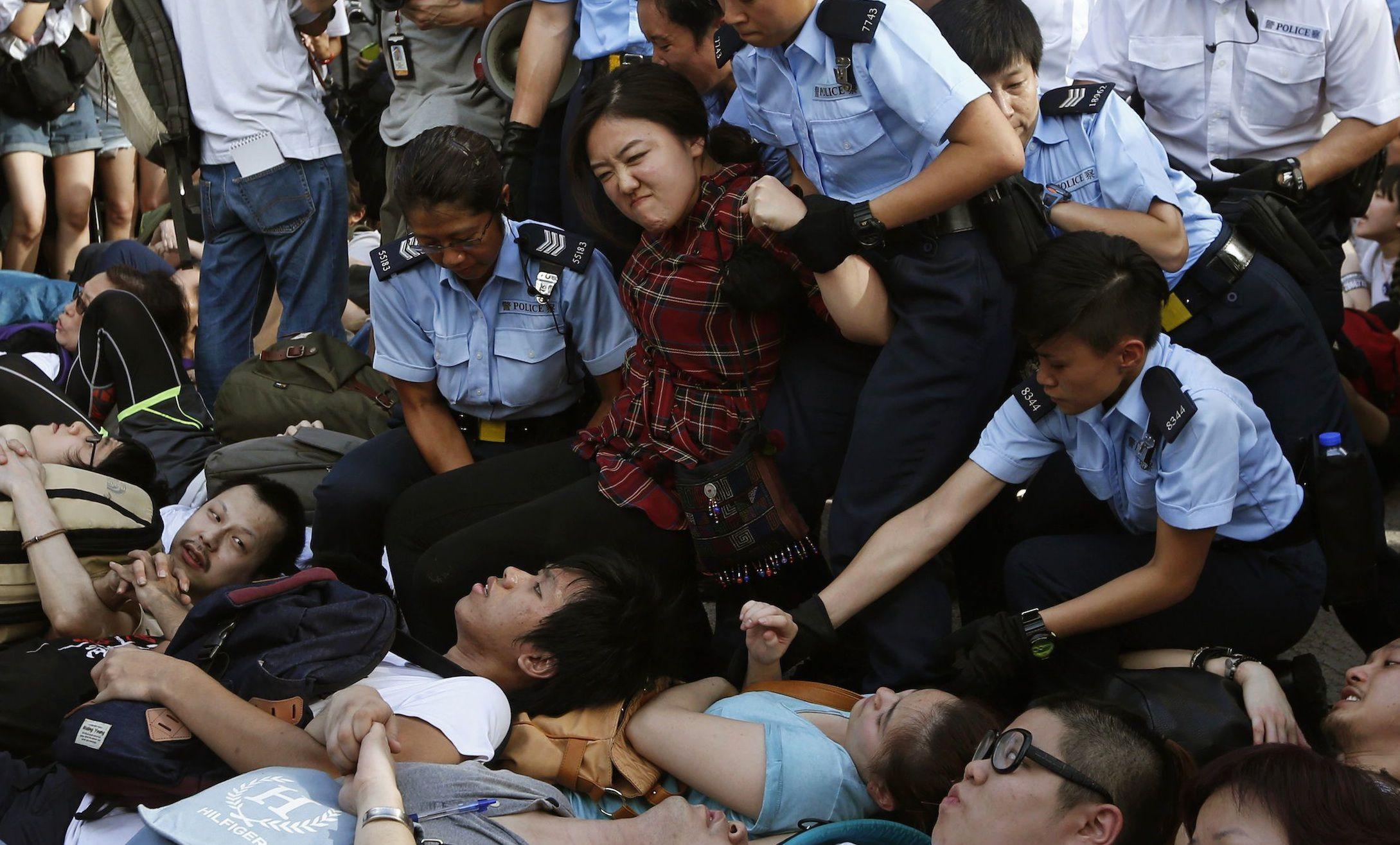 protests hong kong student arrests web