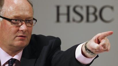 HSBC Group Chairman Douglas Flint attends a news conference in Hong Kong.