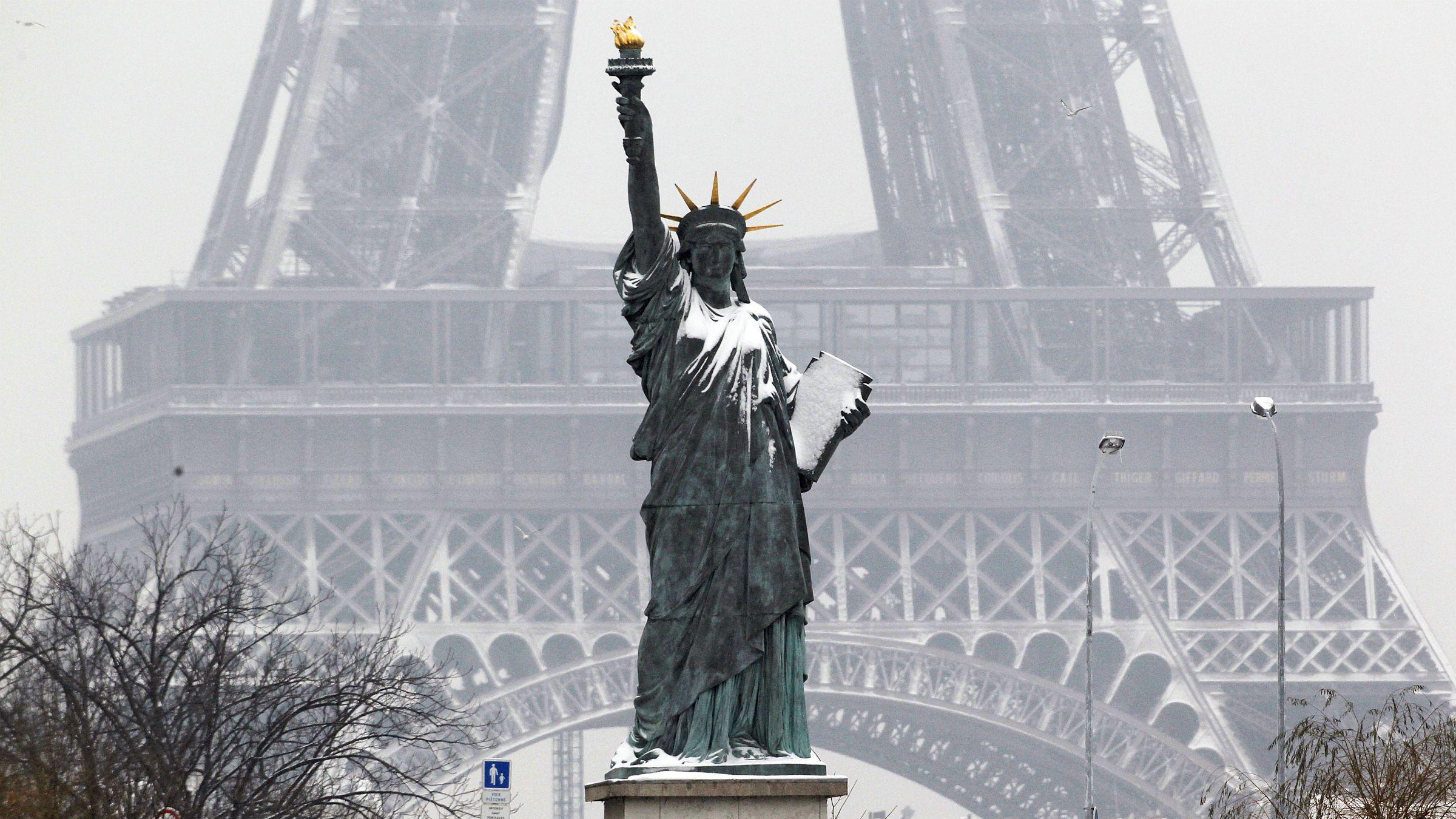Statue of Liberty replica in Paris