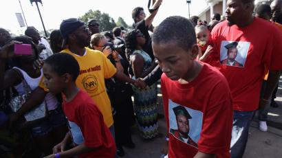 Michael Brown funeral procession