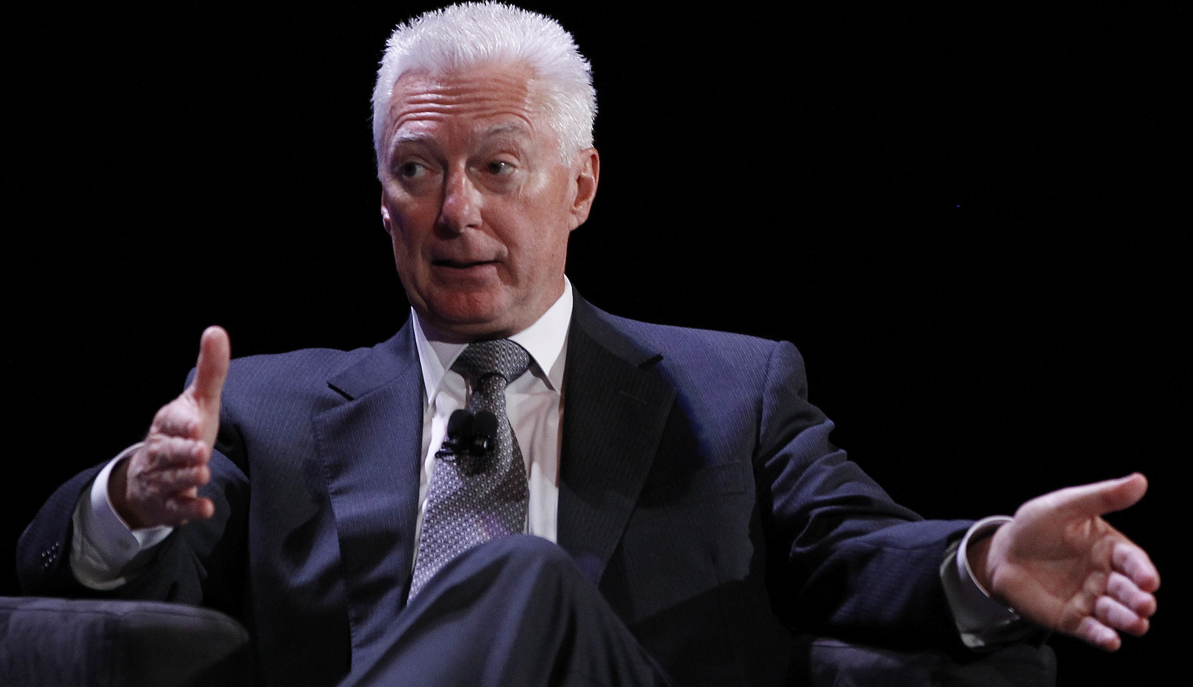 Former Chairman of the Board, President and Chief Executive Officer of Procter & Gamble A.G. Lafley speaks during the World Business Forum in New York October 6, 2010.   REUTERS/Shannon Stapleton   (UNITED STATES - Tags: BUSINESS) - RTXT4M3