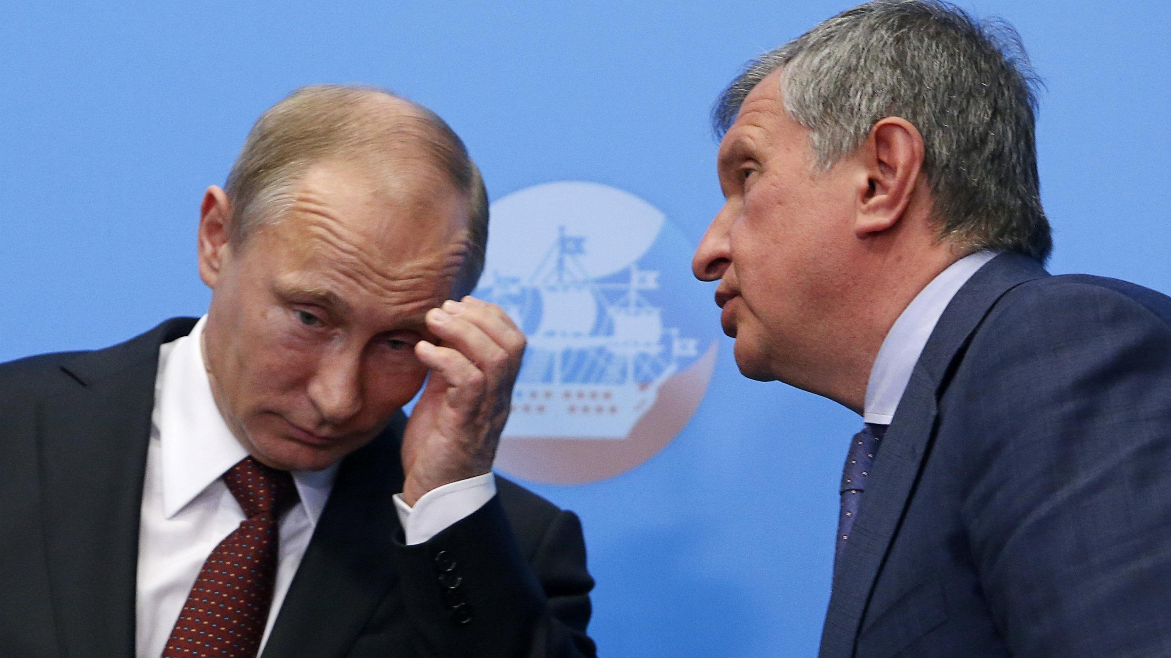 Putin and an oil executive