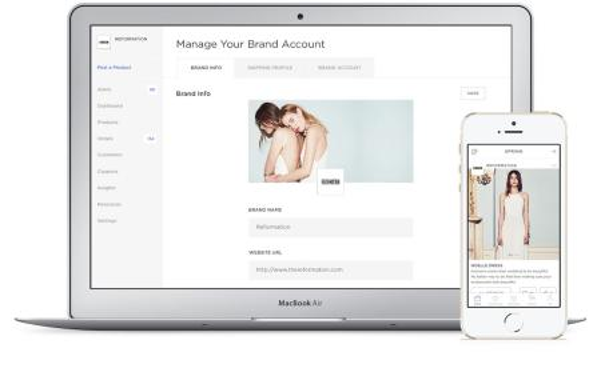 Spring Screenshot Brand Account, mobile shopping startup