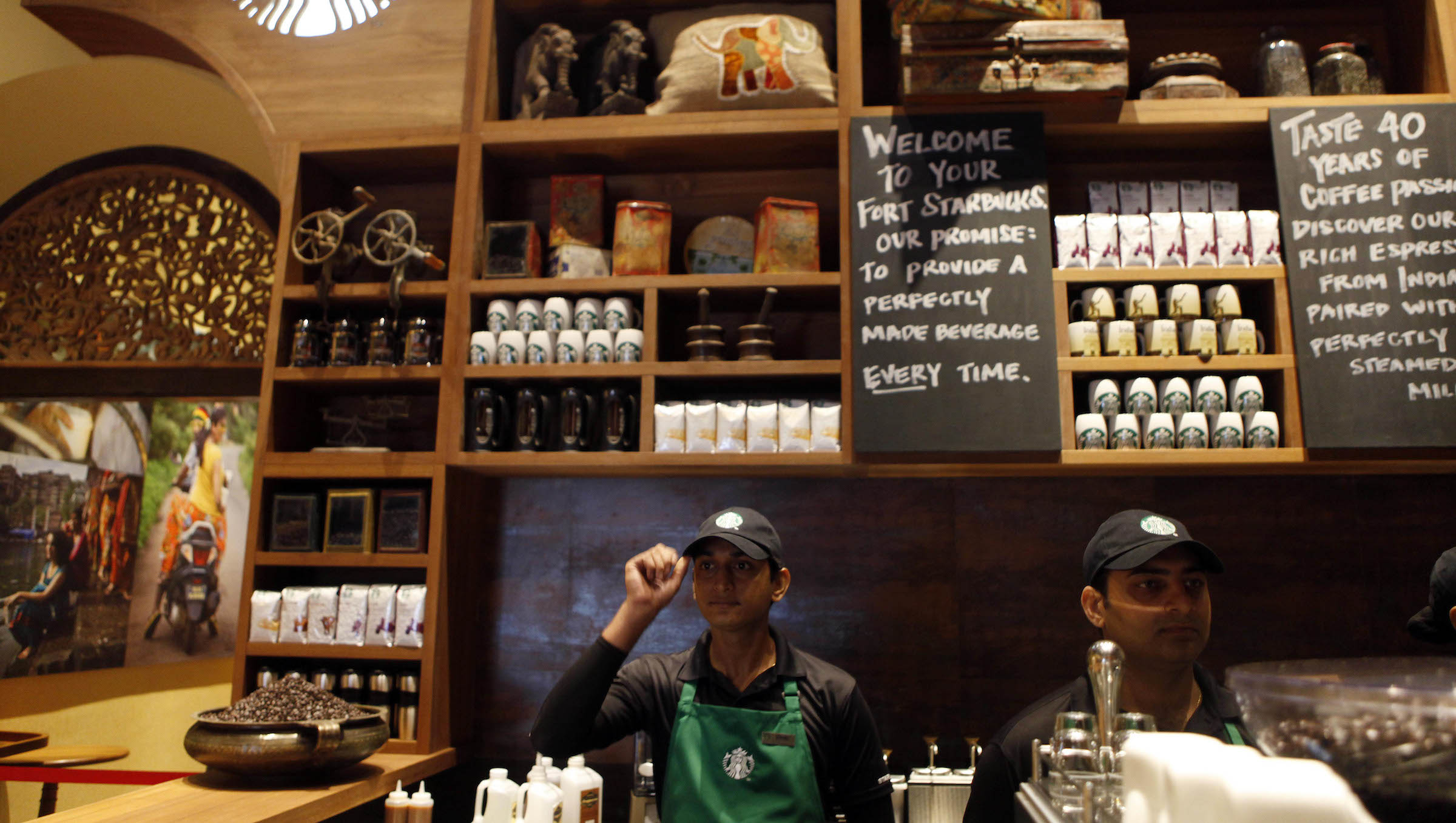 Starbucks opened its first outlet in Chennai only last month, almost two years after it entered India.