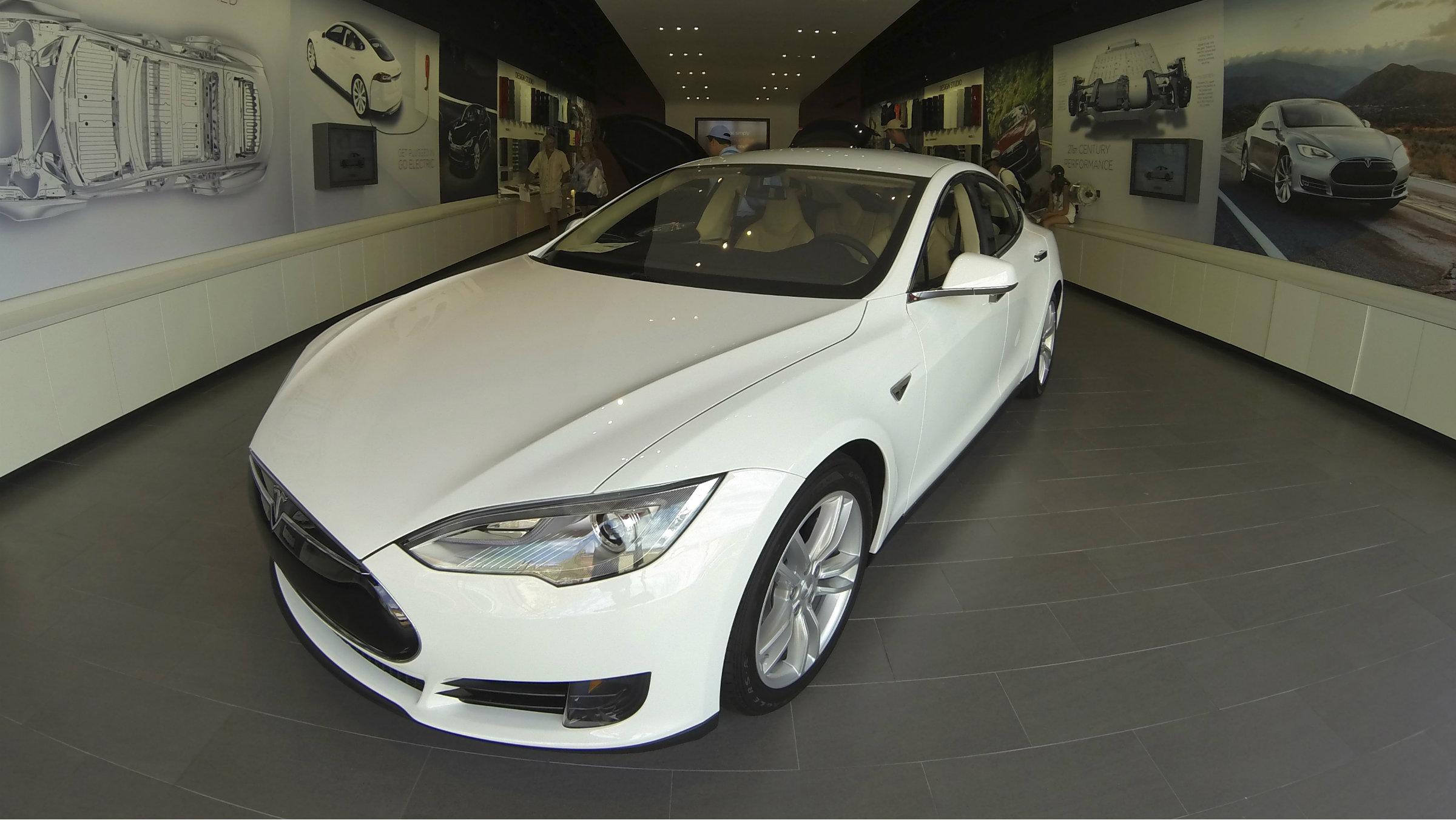 The Tesla S, for sale in La Jolla, Ca., in 2013.