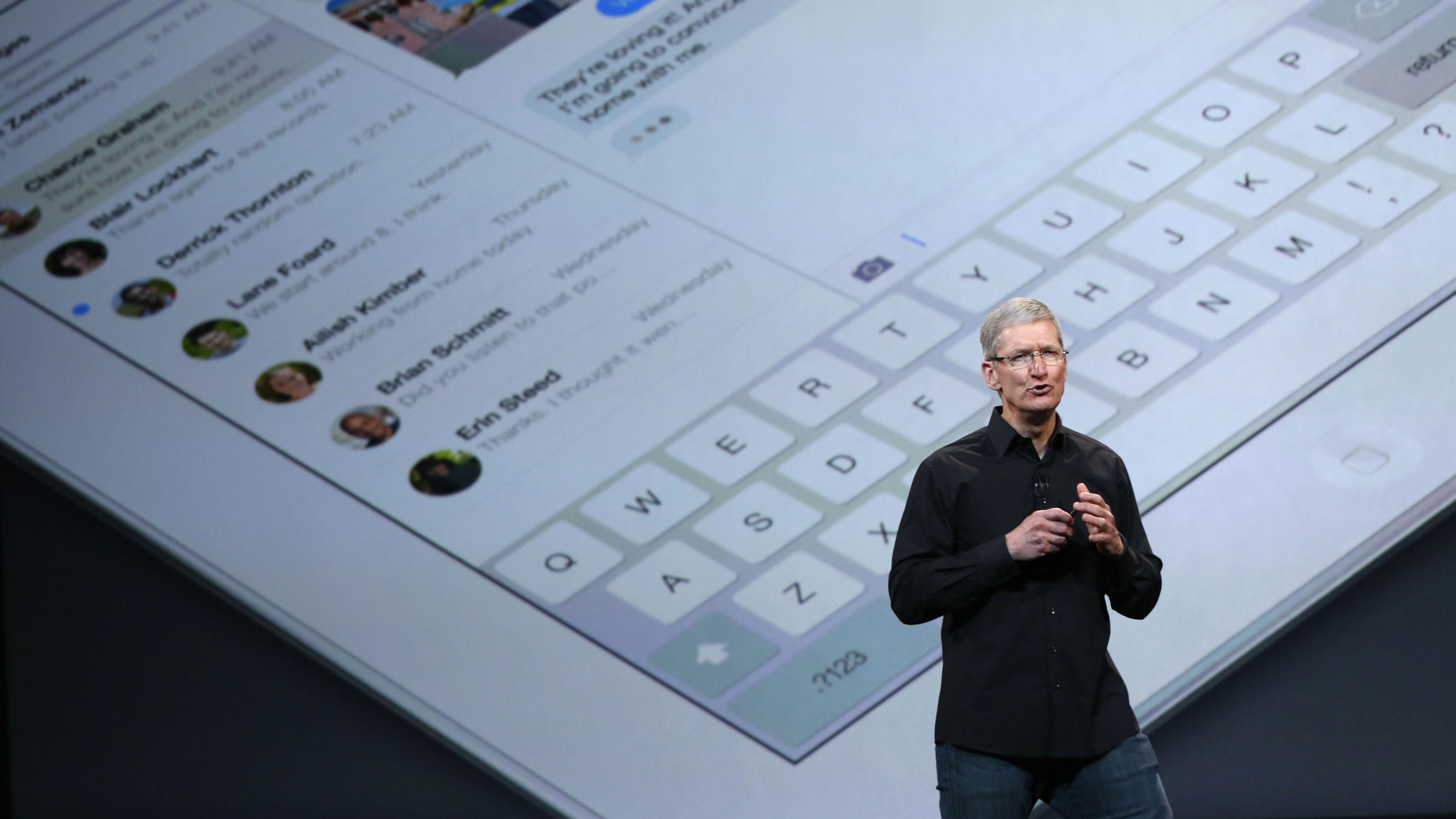 Apple CEO Tim Cook iPad