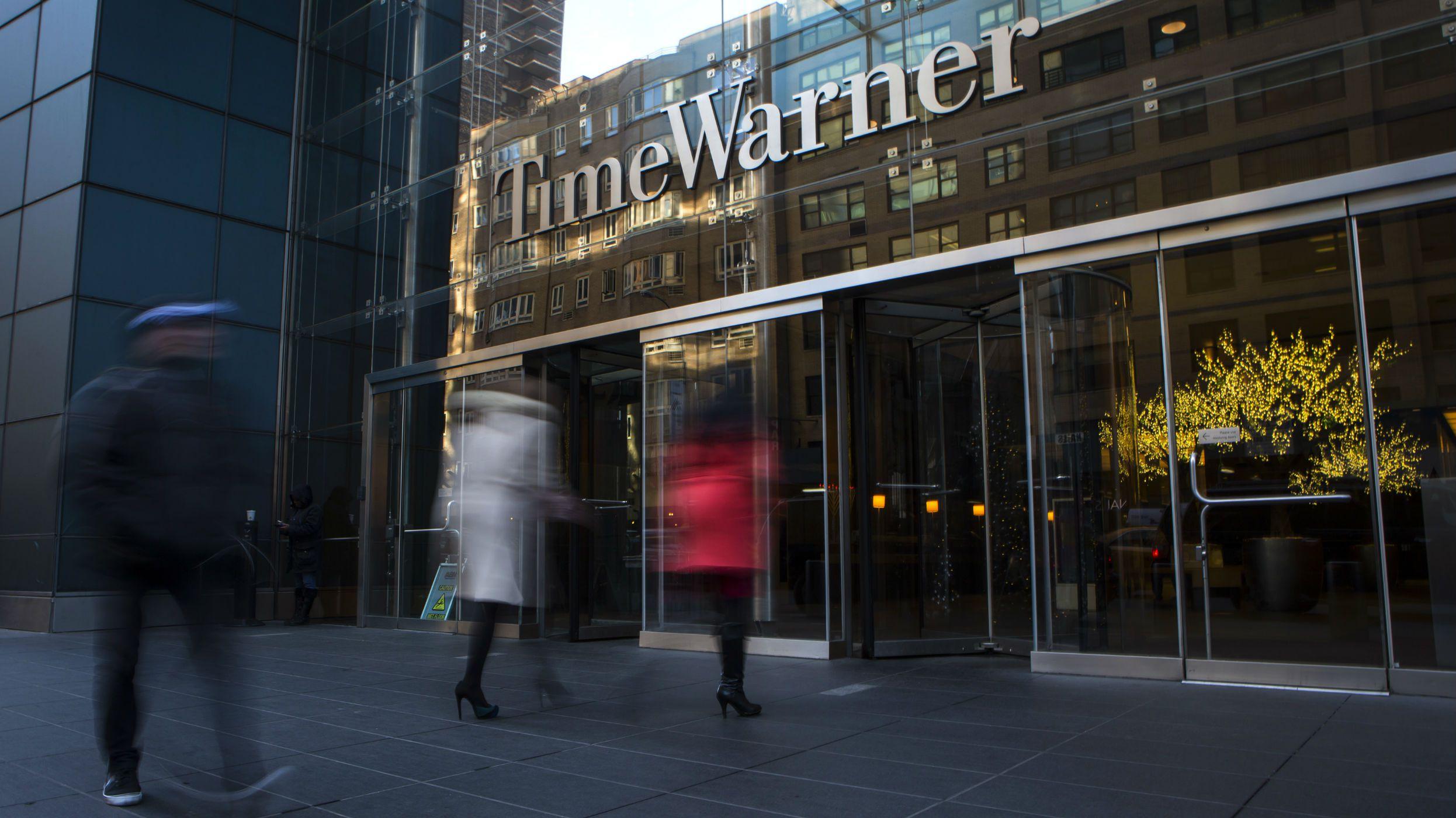 The Time Warner building in New York, December 11, 2013.