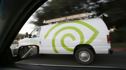 Time Warner Cable installation truck