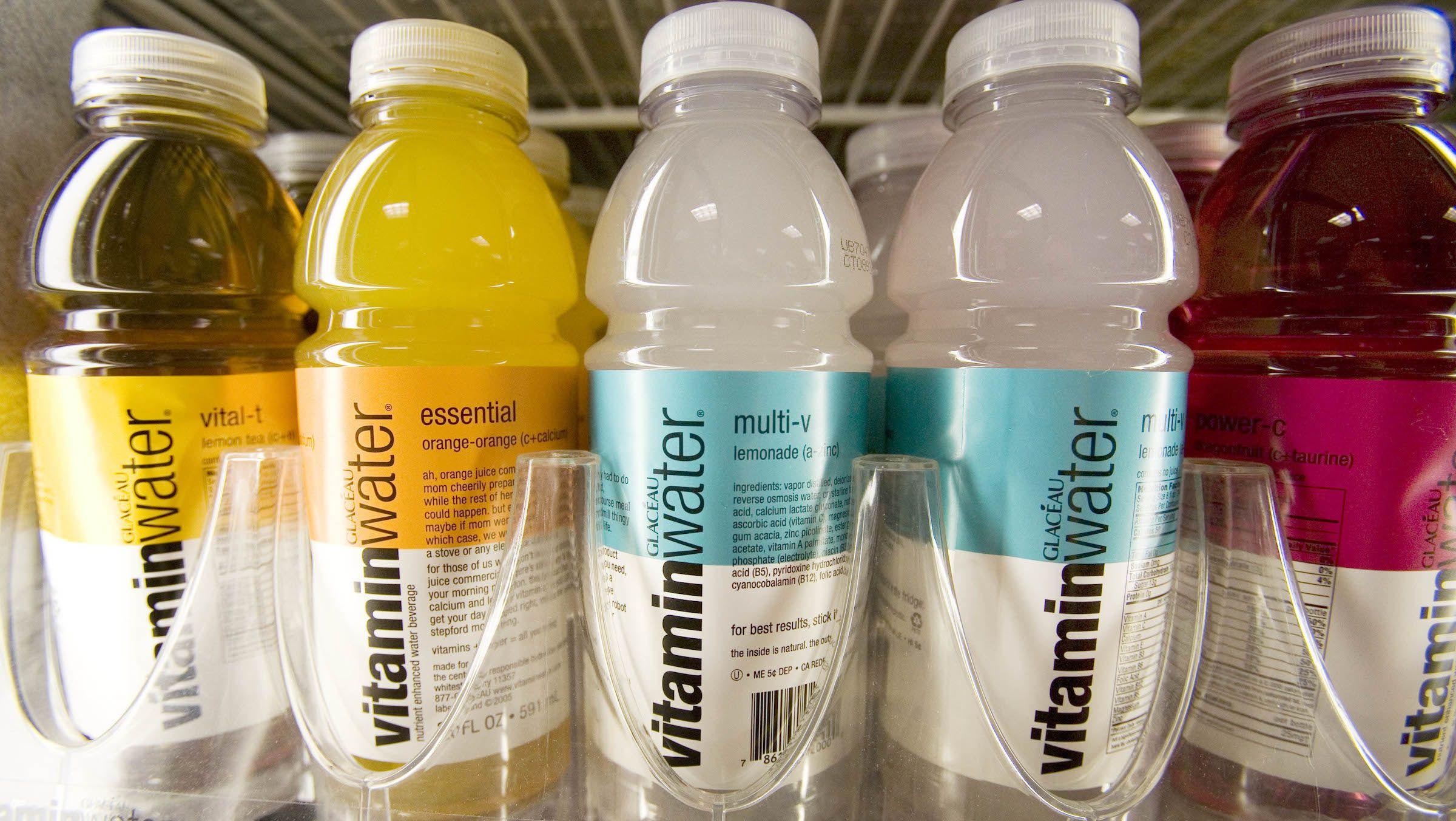 Vitaminwater on shelves