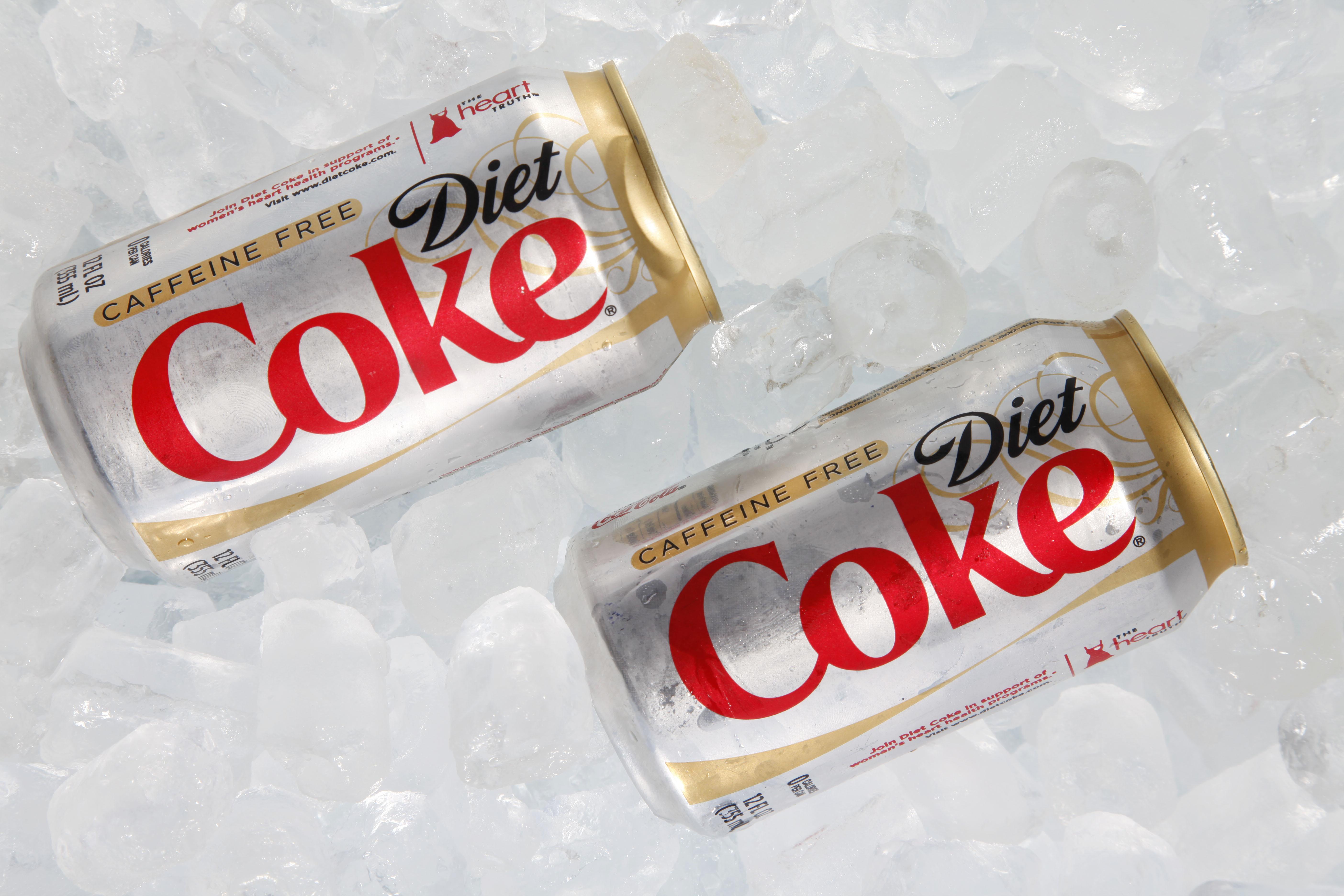 Diet Coke on ice