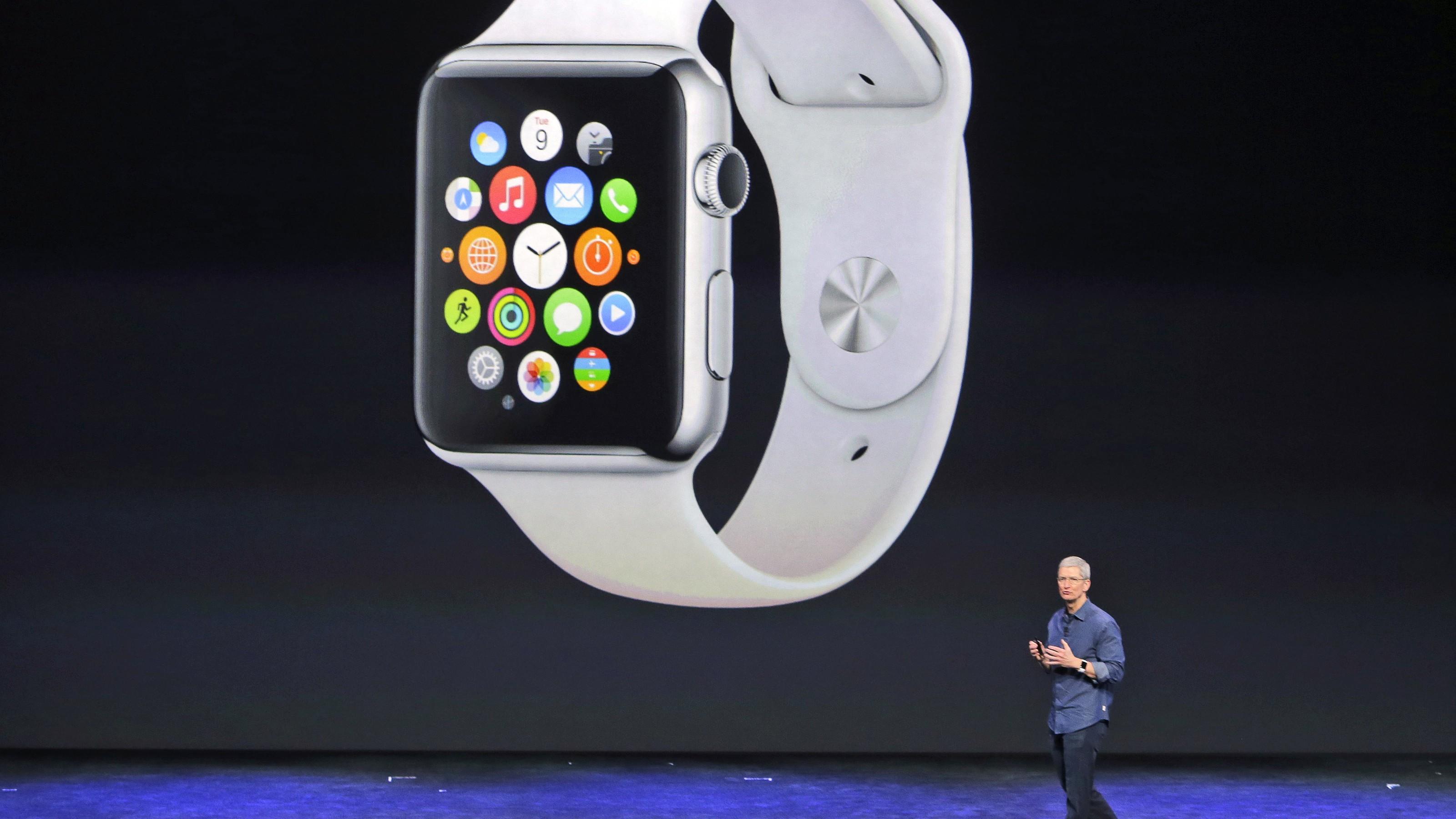 Tim Cook Apple Watch keynote