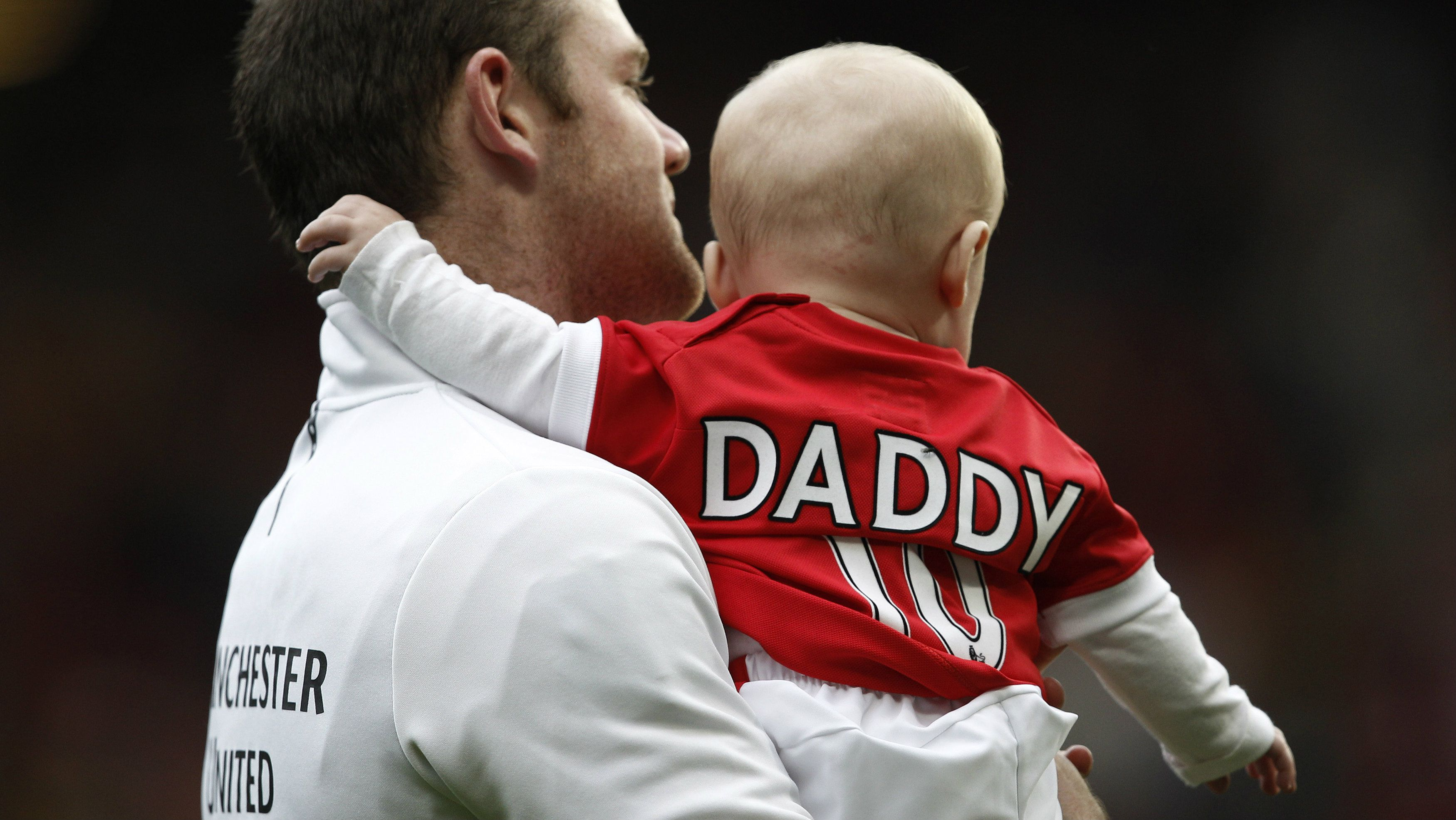 Wayne Rooney with son