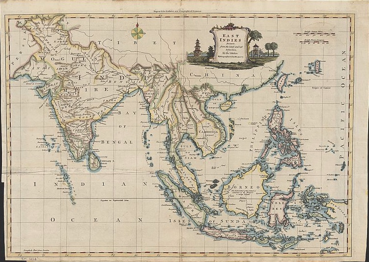 """Published in 1770 in London by Thomas Kitchin, the then Royal Hydrographer. This map shows """"Panacot"""" shoal."""