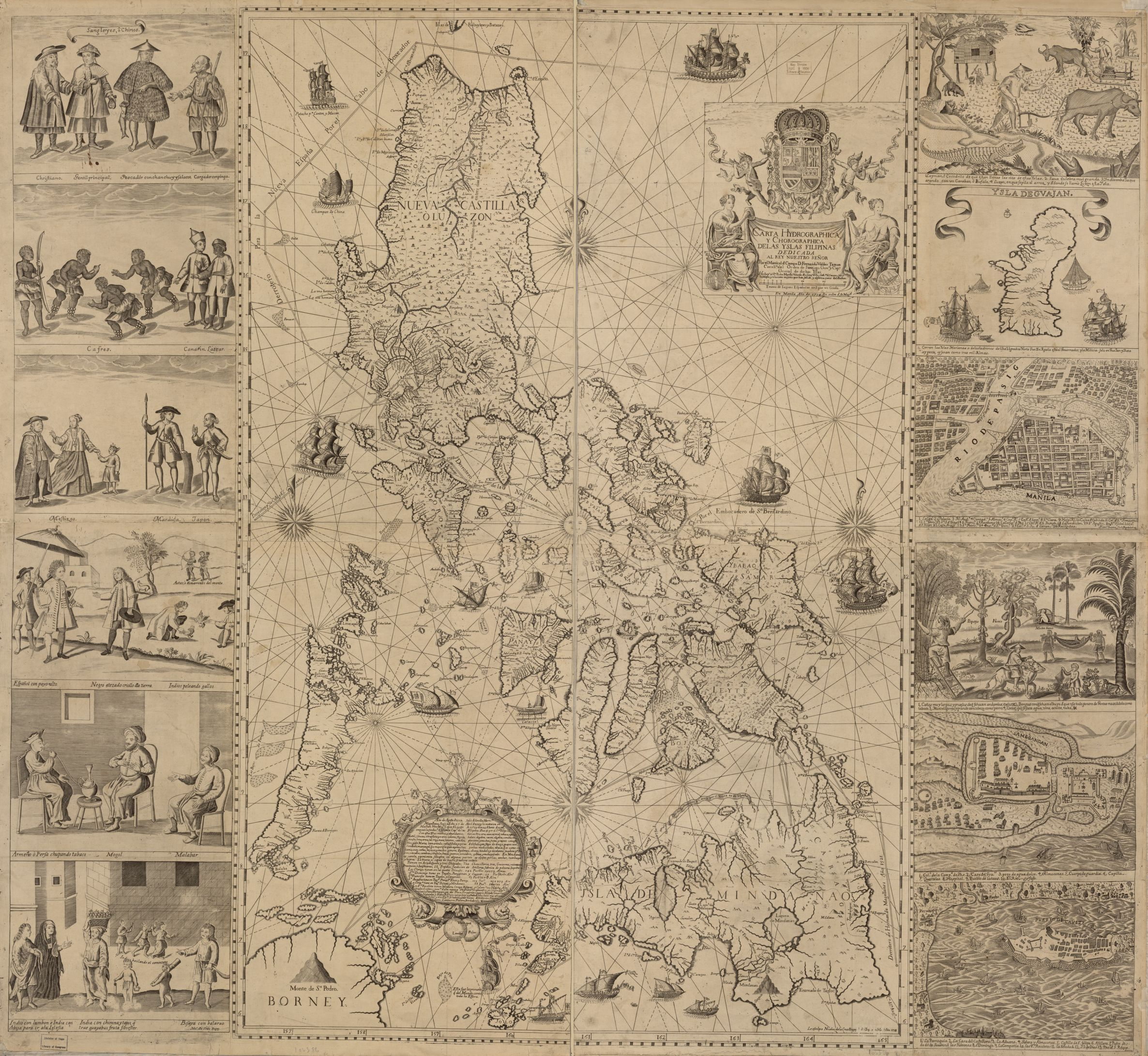 "Published in 1734 in Manila by the Jesuit Pedro Murillo, this is the oldest map that gives a name to ""Panacot"" shoal. """