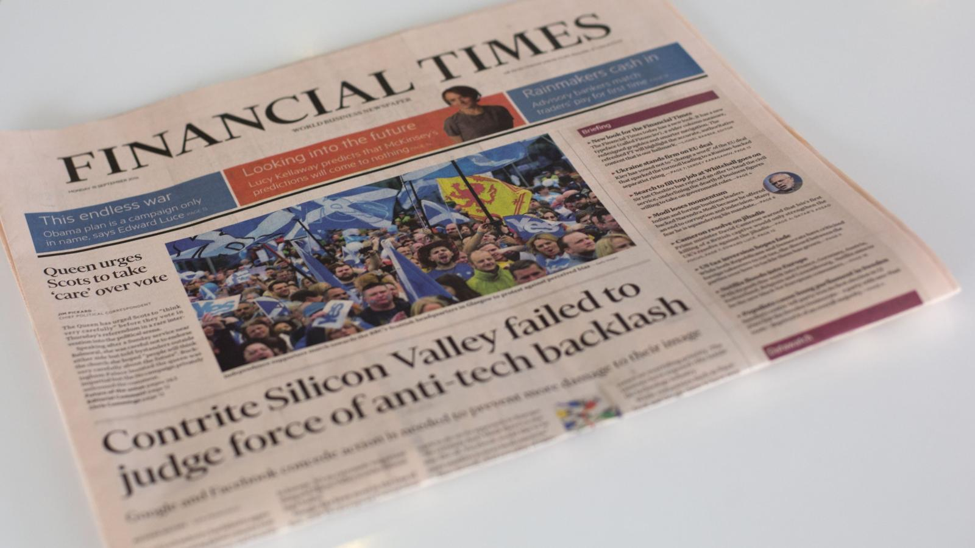 The Financial Times reboots print even as readers flock to digital — Quartz