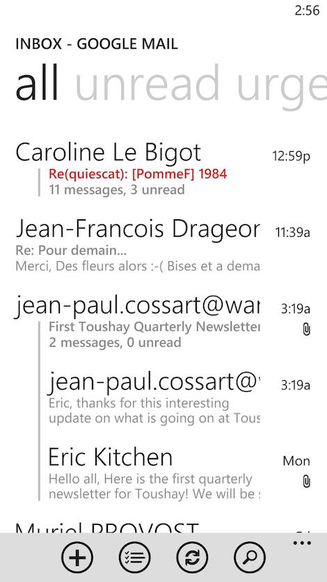 screenshot of phone interaction