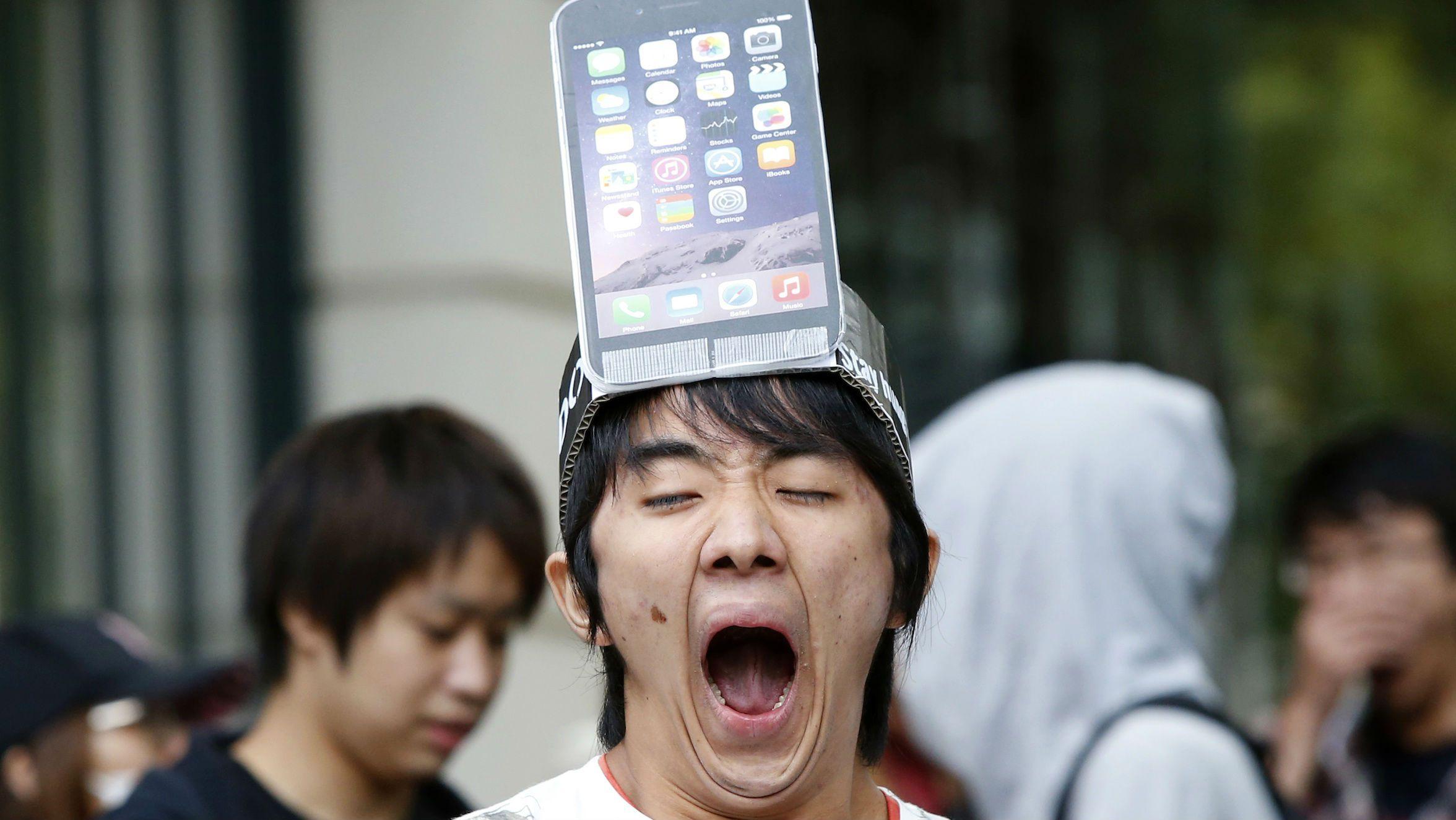 iphone yawn head web