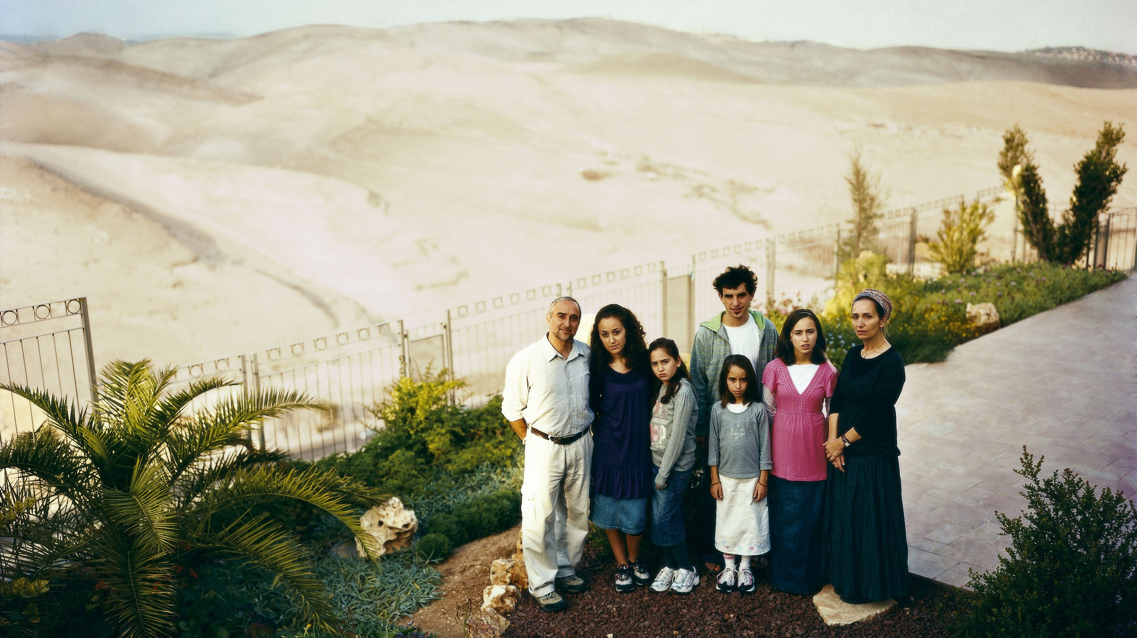 A family portrait of Jewish settlers in Ma'ale Adumim