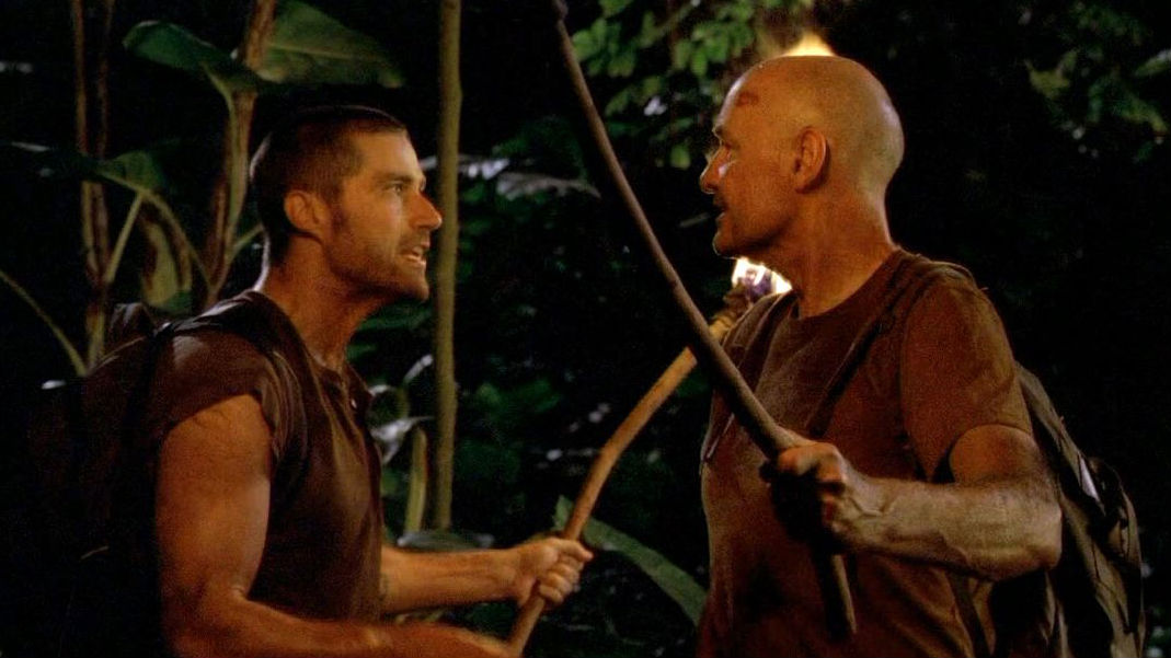 A scene from the season one finale of 'LOST'.