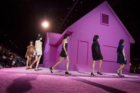 The Marc Jacobs Spring 2015 collection is modeled during New York Fashion Week