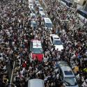 Tens of thousands of protesters block traffic on the main road leading to the financial Central district outside the government headquarters in Hong Kong September 28, 2014.
