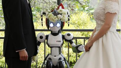 Robot officiant at wedding