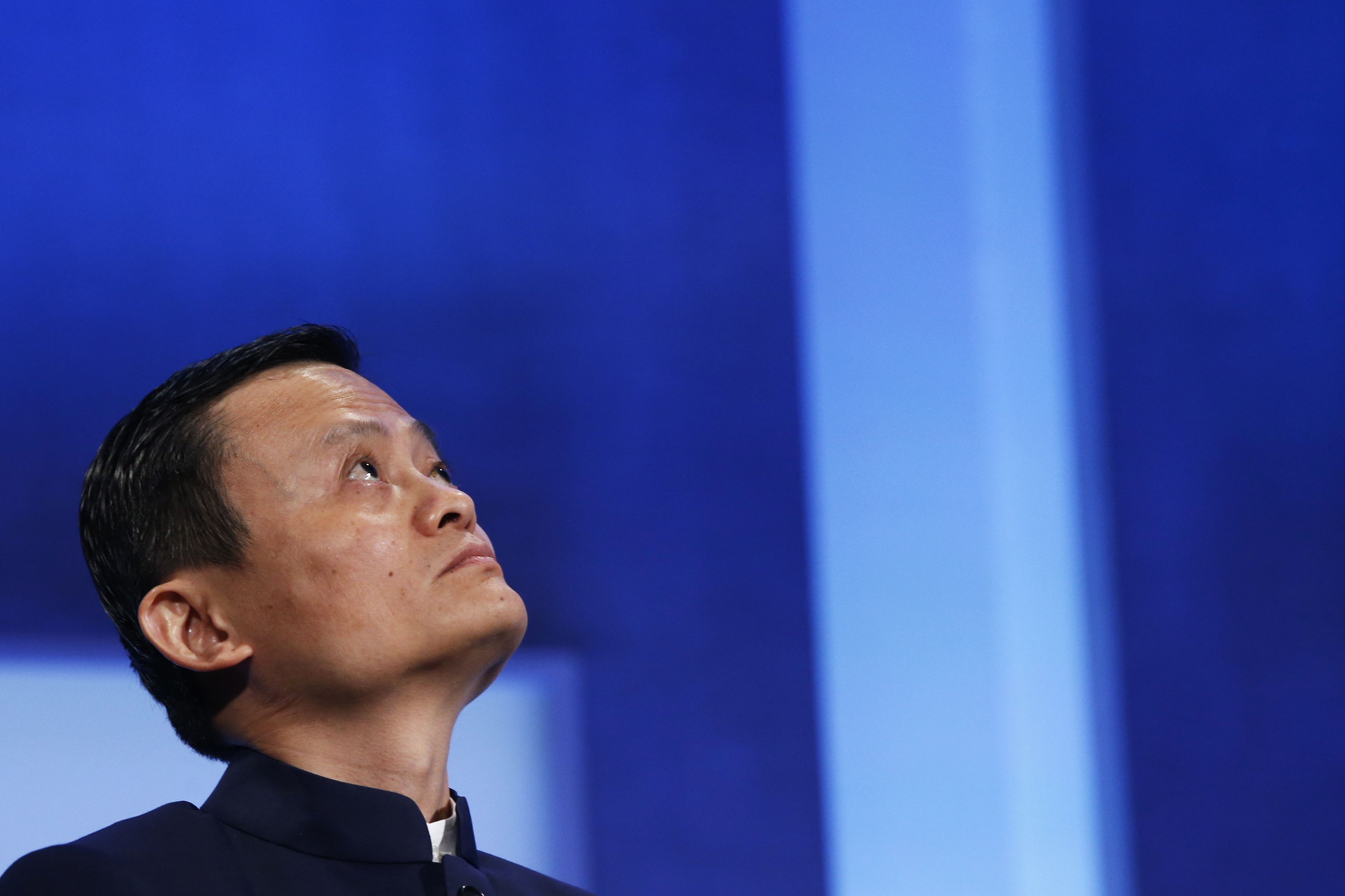"""Alibaba Group Holding Ltd founder Jack Ma listens to a speaker during the plenary session titled """"Valuing What Matter"""" at the Clinton Global Initiative 2014 (CGI) in New York, September 23, 2014. The CGI was created by former U.S. President Bill Clinton in 2005 to gather global leaders to discuss solutions to the world's problems. REUTERS/Shannon Stapleton (UNITED STATES - Tags: POLITICS BUSINESS SCIENCE TECHNOLOGY) - RTR47DRM"""