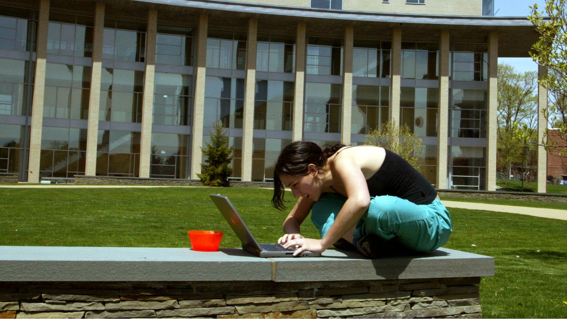 email theft cybersecurity cybernetwork cybertheft phishing email account address password identity theft university college yale harvard stanford china taobao alibaba chinese amazon prime Lauren Hafford of Fort Collins, Colo., a materials science major scheduled to graduate in 2007 from the Franklin W. Olin College of Engineering, works on her laptop outside the Olin Center on the school's campus May 8, 2006, in Needham, Mass. On Sunday 66 students will become Olin's first graduates -- bringing to a close four years of not only learning about engineering but spending time building the makings of a school from scratch. (AP Photo/Bizuayehu Tesfaye