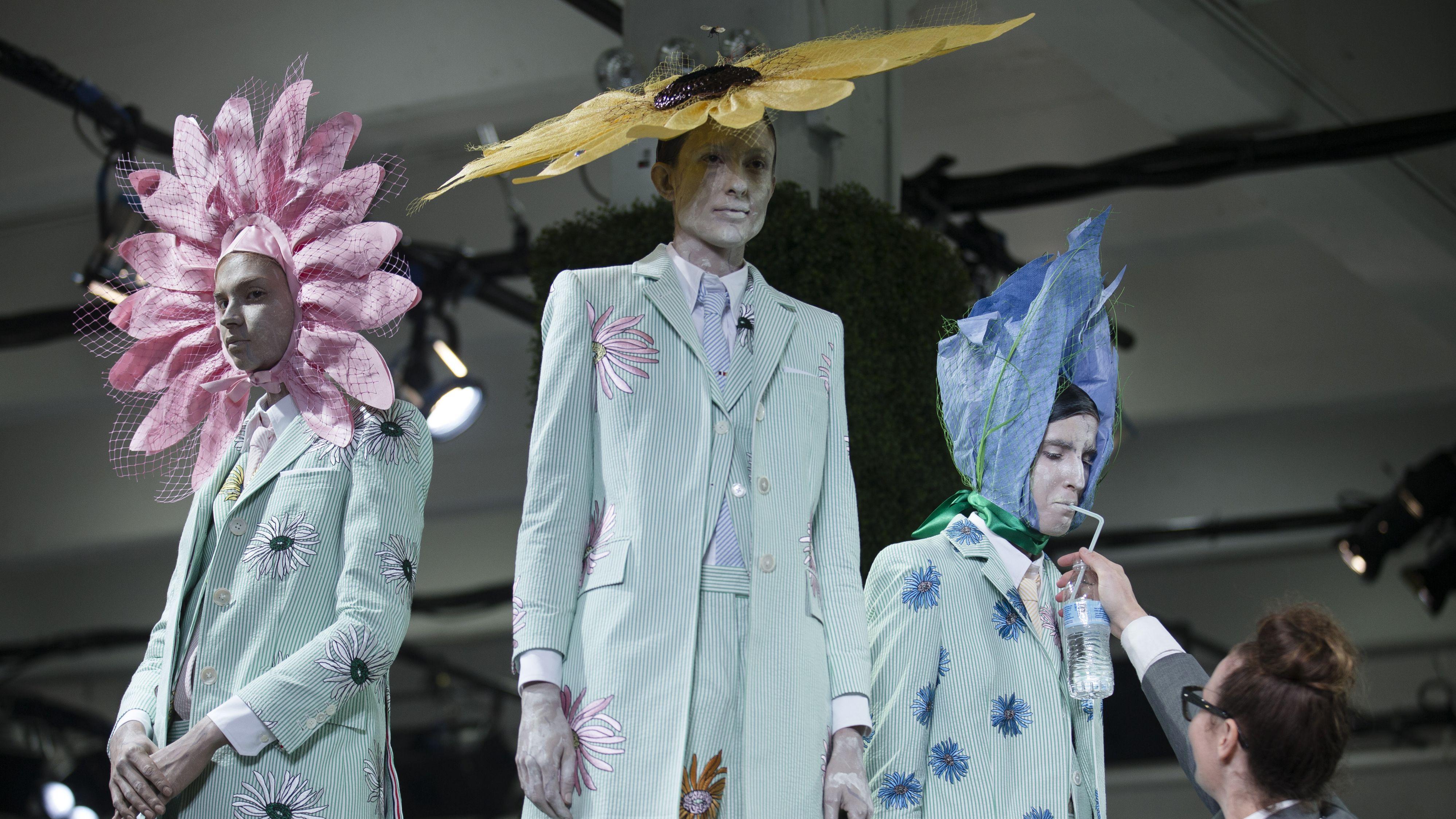 Thom Browne hats spring 2015 new york fashion week